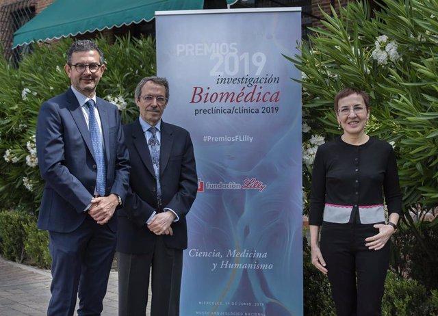 Empresas.- Los doctores Pura Muñoz-Cánoves y Josep Dalmau reciben los Premios Fundación Lilly de Investigación Biomédica