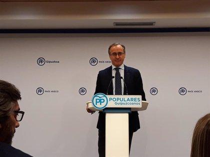 """Alonso (PP) exige a PNV que diga con claridad """"si se ha arrepentido o no"""" de su acuerdo de nuevo estatus con Bildu"""