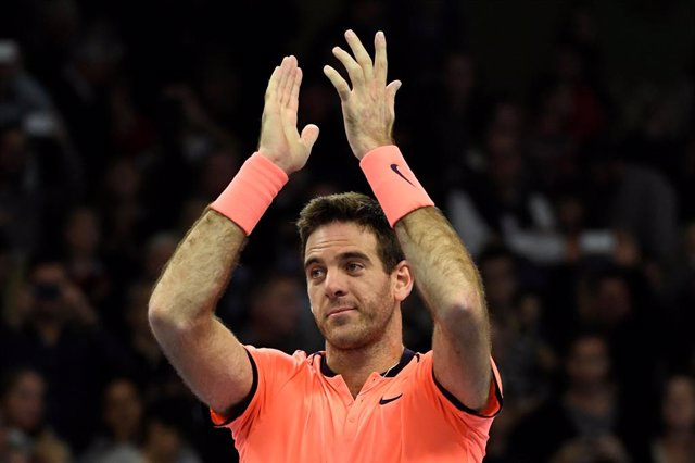 Argentina's Juan Martín del Potro celebrates winning the men's final match again