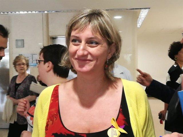La consellera de Salud, Alba Vergés, en el Arnau de Vilanova