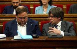 La JEC comunica al Parlament Europeu que els escons de Junqueras, Puigdemont i Comín queden vacants (REUTERS - Archivo)