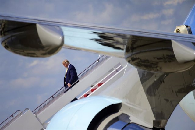 President Donald J Trump returns to JBA