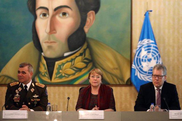 Venezuela.- Bachelet continúa sus contactos con el Gobierno de Maduro durante su visita a Venezuela