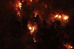 El foc conquereix una plaça Sant Pere plena a vessar que vibra amb la primera Patum Completa (ACN)