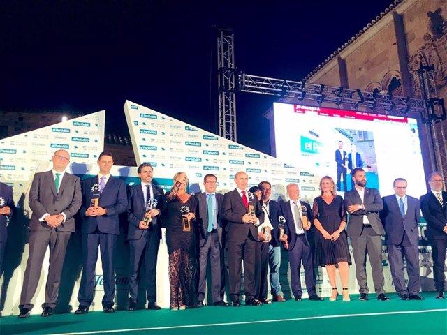El propietario del Grupo Líder Aliment, Manuel Marín, recibe el XXIV Premio Empresario Extremeño de 2019 de El Periódico