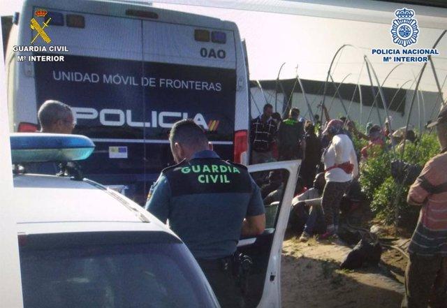 Huelva.-Sucesos.- Nueve detenidos por supuestas irregularidades en contratos de trabajo en Villanueva de los Castillejos