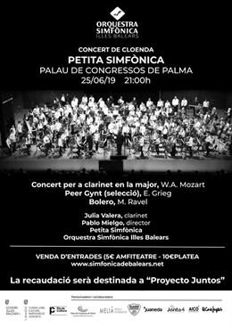 Cartel promocional del concierto de la Petita Simfònica.