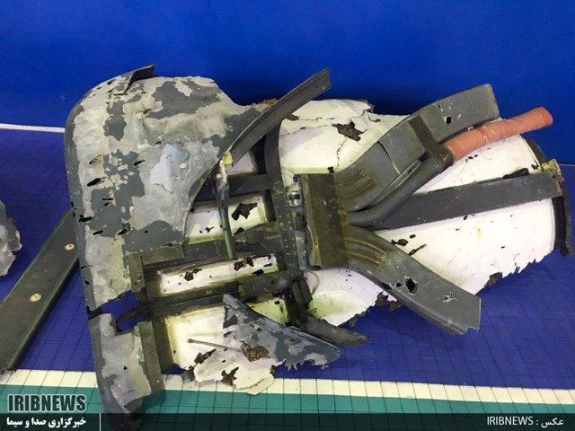 Irán.- Irán publica las primeras imágenes de los restos del dron estadounidense derribado