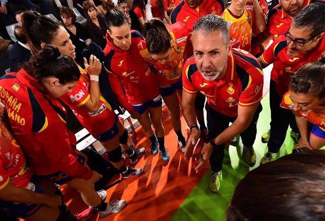 Carlos Viver, entrenador de la selección española femenina de balonmano.