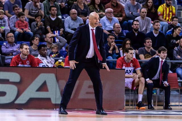 Joan Peñarroya, Head coach of BAXI Manresa during the Liga Endesa, match between FC Barcelona Lassa and BAXI Manresa at Palau Blaugrana, in Barcelona, Spain. March 31, 2019.