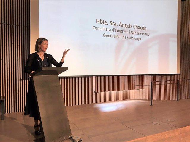 La consellera de Empresa y Conocimiento de la Generalitat, Àngels Chacón