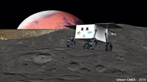 Concepto de rover para lunas marcianas