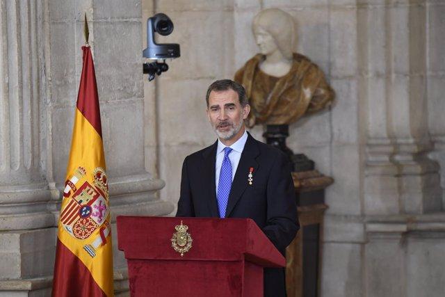Felipe VI en su quinto aniversario como Rey de España