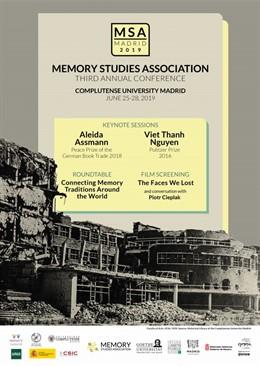 Cartel del congreso internacional sobre Memoria que se celebrará en Madrid
