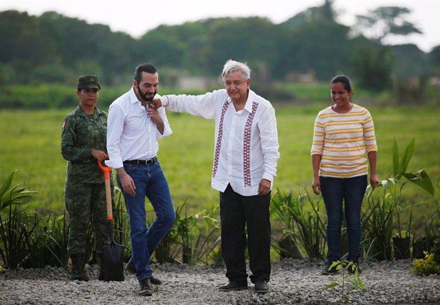 Mexico's President Lopez Obrador and El Salvador's President Nayib Bukele meet in Puerto Chiapas