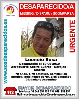 Un hombre argentino de 72 años, Leoncio Sosa lleva desaparecido desde este miércoles en el Aeropuerto Adolfo Suárez Madrid Barajas