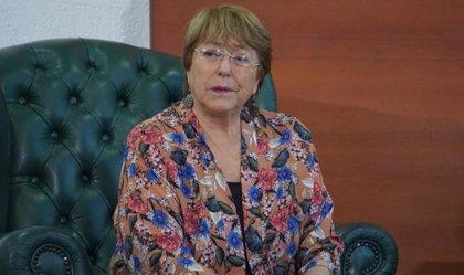 Bachelet se reúne con Nicolás Maduro en el Palacio de Miraflores