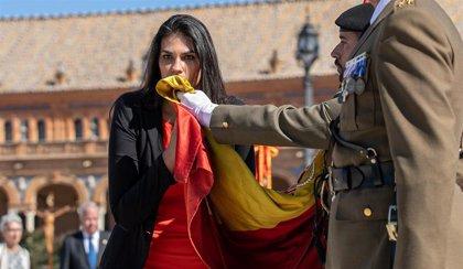 La Plaza de España de Gines (Sevilla) celebra este domingo una jura de bandera civil