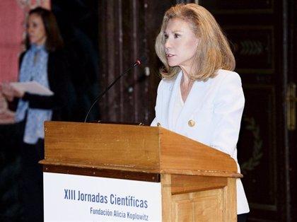 Alicia Koplowitz ingresa mañana en la Real Academia de Bellas Artes