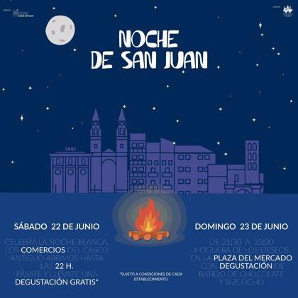 'Logroño Casco Antiguo' organiza en la Plaza el Mercado la Hoguera de los Deseos por la Noche de San Juan