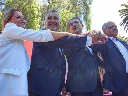 PSOE, NC, Podemos y ASG firman el 'pacto de las flores' con 8 ejes programáticos pero sin estructura de gobierno