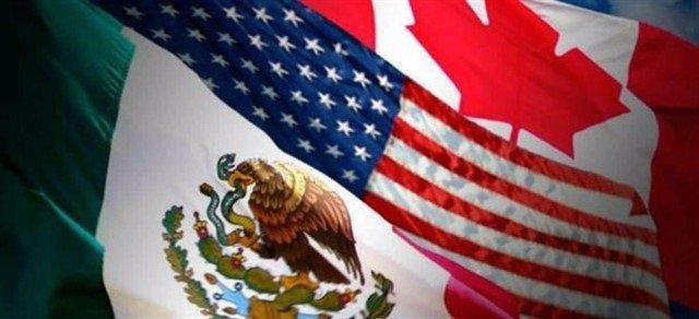 Banderas México, EEUU y Canadá