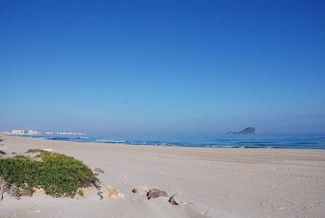 Playa en La Manga del Mar Menor