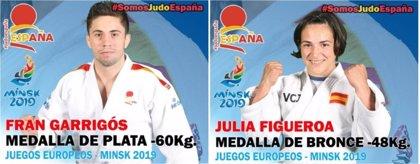 Fran Garrigós, subcampeón de Europa de -60 kg y Julia Figueroa logra el bronce en -48 kg