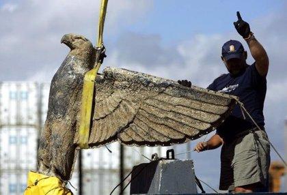 La Justicia uruguaya ordena la venta de un águila de bronce nazi de un buque alemán de la II Guerra Mundial