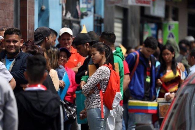 Migrantes venezolanos en Lima