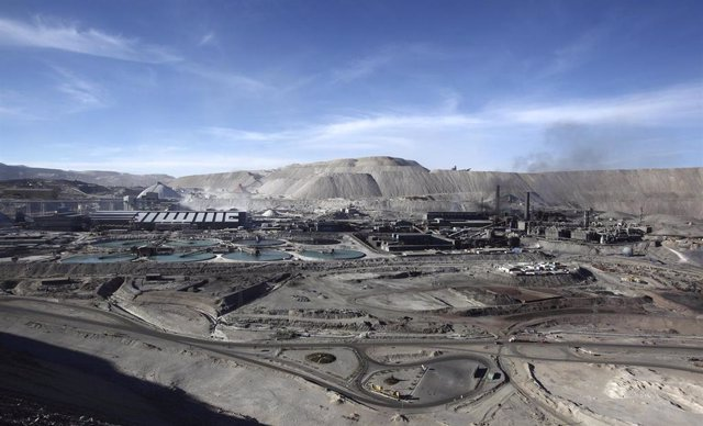 FILE PHOTO: Foundry is seen during operational hours at the Chuquicamata open pit copper mine