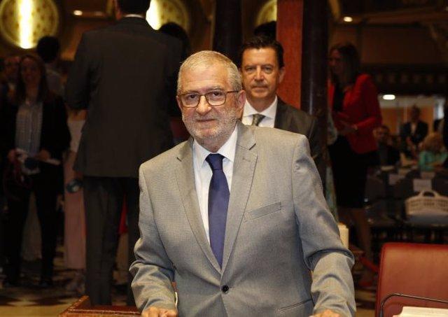 Alberto Castillo, diputado de Ciudadanos, tras su elección como presidente de la Asamblea