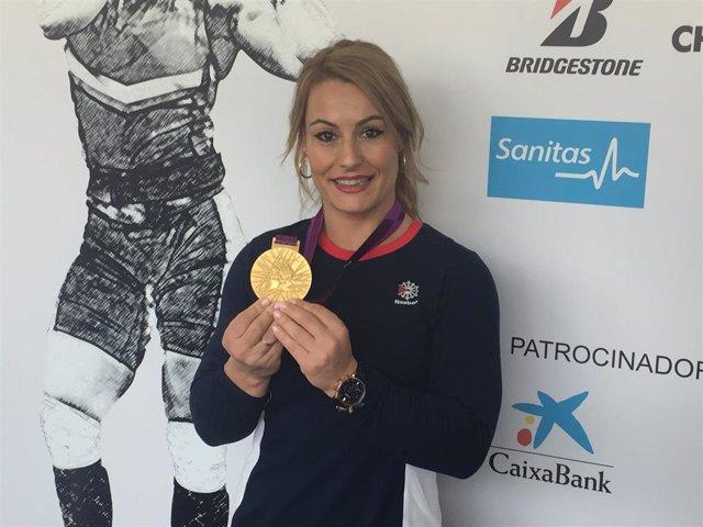 Lydia Valentín recibe la medalla de oro de Londres 2012