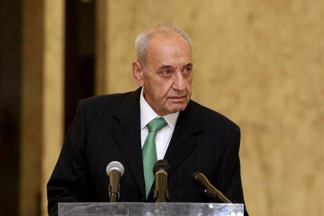 Nabih Berri, el presidente del Parlamento de Líbano