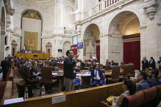El Pleno del Parlamento andaluz en una foto de archivo