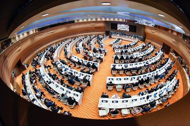 Sesión de la Conferencia internacional de la OIT en Ginebra