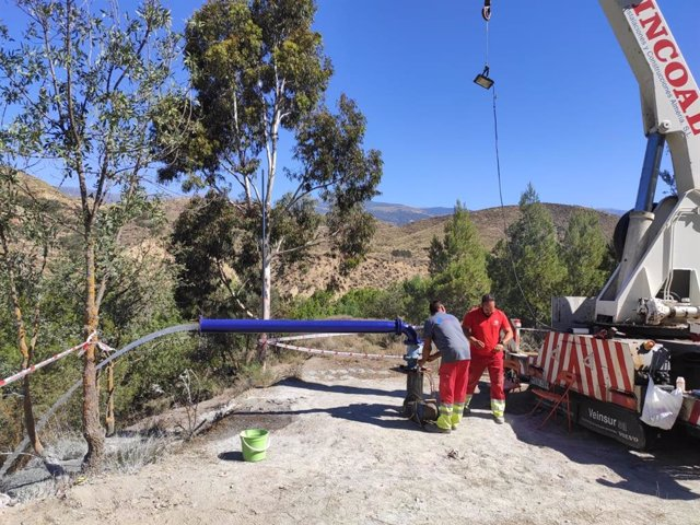 SaboresAlmería.- Diputación garantiza el agua potable en Alcolea con un sondeo en la barriada de Lucainena