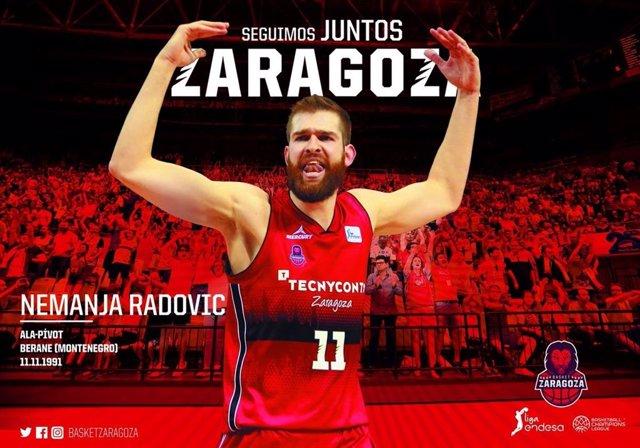 Nemanja Radovic renueva con Tecnyconta Zaragoza