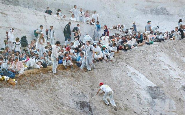 Protesta en las minas de Renania