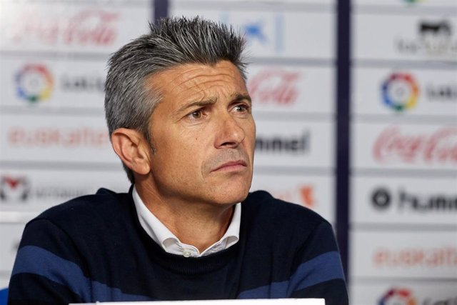 Jose Luis Marti (coach; RC Deportivo) during the Spanish football of La Liga 123, match between CA Osasuna and RC Deportivo at the Sadar stadium, in Pamplona (Navarra), Spain, on Saturday, April 13, 2019.