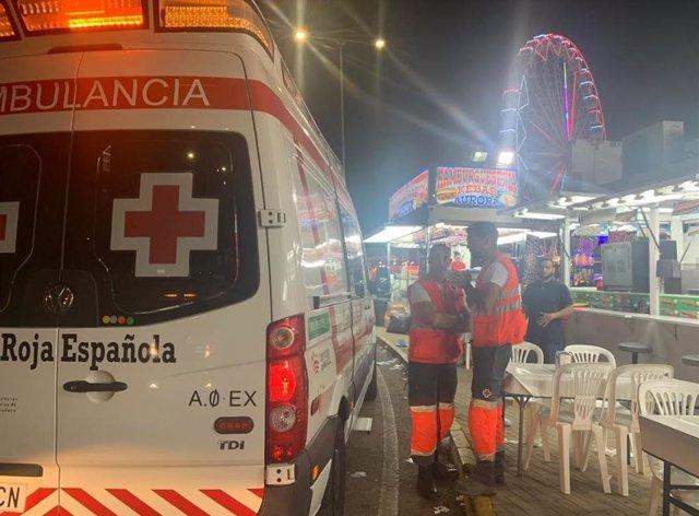 Dispositivo de Cruz Roja en la Feria de Badajoz