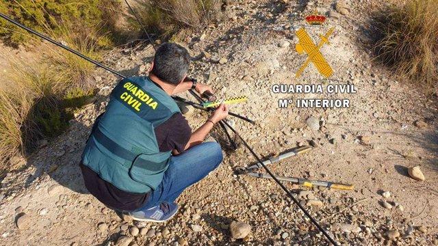 Operación de la Guardia Civil en Almería por el robo de cable en Cuevas del Almanzora