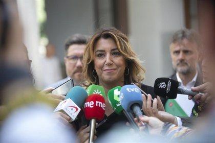 """Susana Díaz lamenta que """"las barbaridades de Vox traspasan territorios"""" tras las declaraciones de su portavoz en Murcia"""