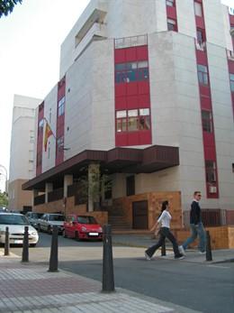 Fachada de la sede de los Juzgados de Ceuta