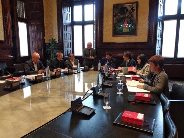 Reunió de l'Mesa  del Parlament