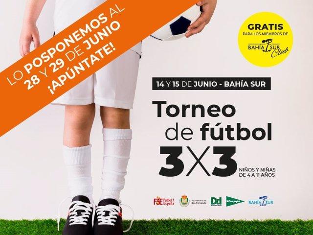 Cádiz.- El centro comercial Bahía Sur acoge este viernes y sábado un torneo infantil de Fútbol 3x3