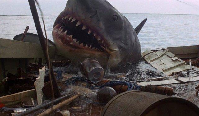 Fotograma de Tiburón, el filme de Steven Spielberg