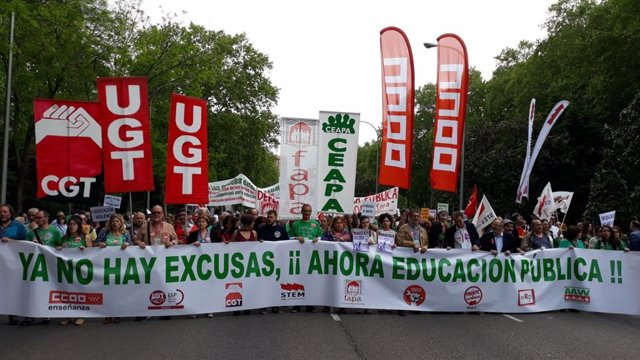 Manifestación por la educación pública en Madrid