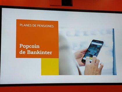 Bankinter lanza planes de pensiones basados en fondos cotizados mediante su gestor digital Popcoin