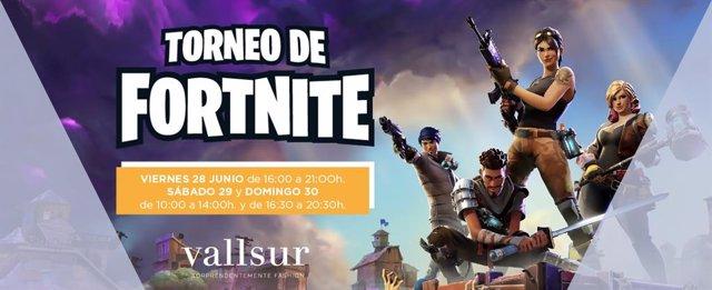COMUNICADO: Vallsur celebra un torneo de Fortnite, el videojuego de moda entre los jóvenes